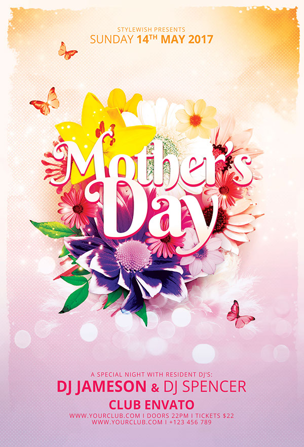 Mother\u0027s Day Flyer on Pantone Canvas Gallery - mothers day flyer