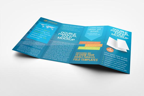 Double Parallel Fold Brochure Mockup on Behance - double fold brochure