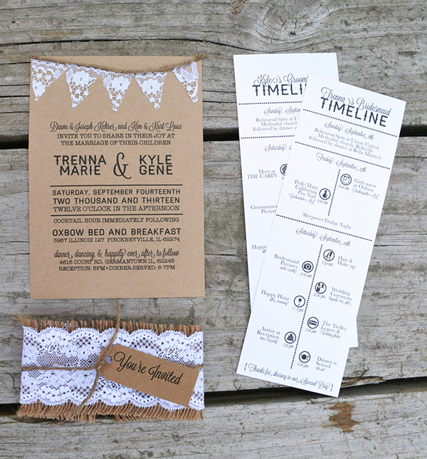 Wedding Time Line Itinerary on Behance