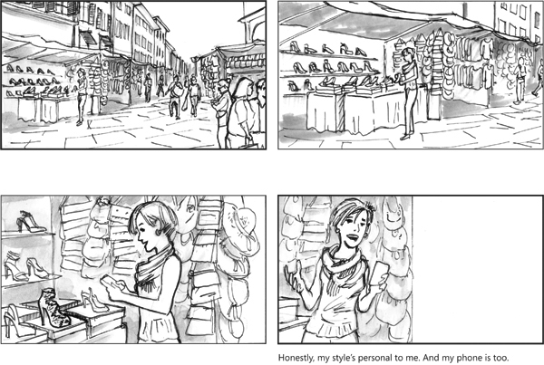 Microsoft Nokia Lumia 630 Commercial Storyboards on RISD Portfolios - commercial storyboards