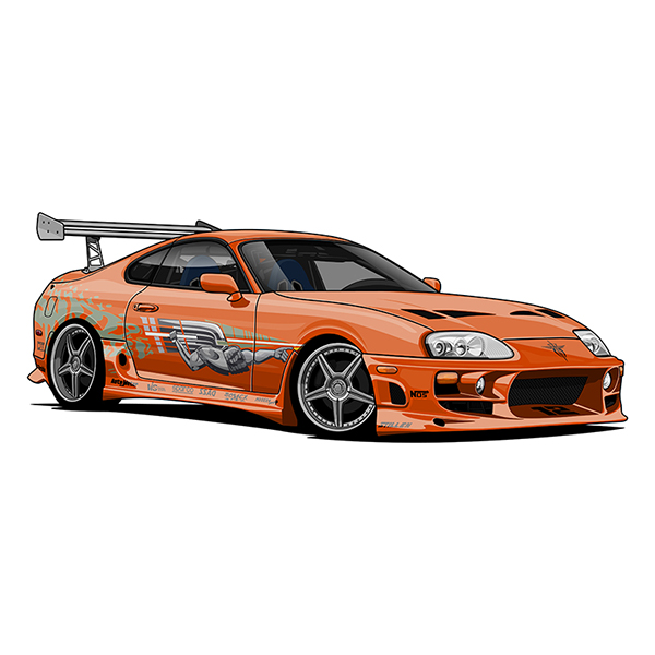Fast And The Furious 6 Cars Wallpaper Toyota Supra Mark Iv Twin Turbo Vector Art On Behance