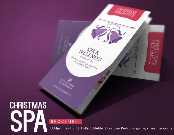 Spa Brochure Design - Christmas Deals on Behance