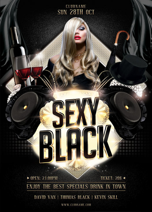 Sexy Black Flyer Template on Behance - black flyer template
