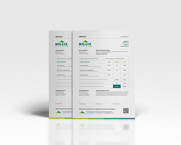 Invoice, Letterhead  Business Card for DOWNLOAD on Behance - invoice letterhead