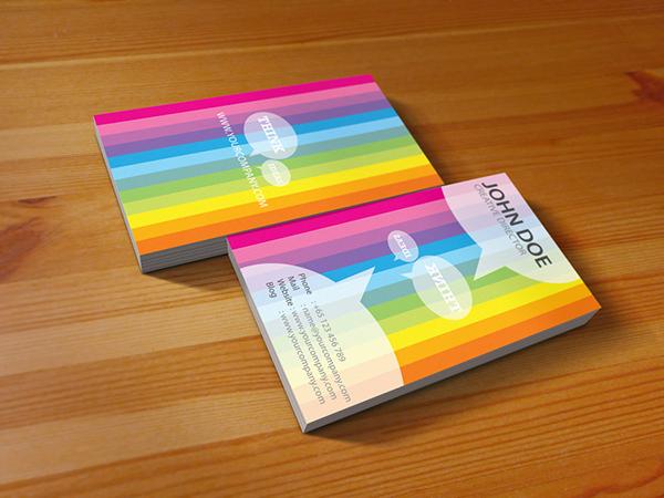 Rainbow business card design on Behance