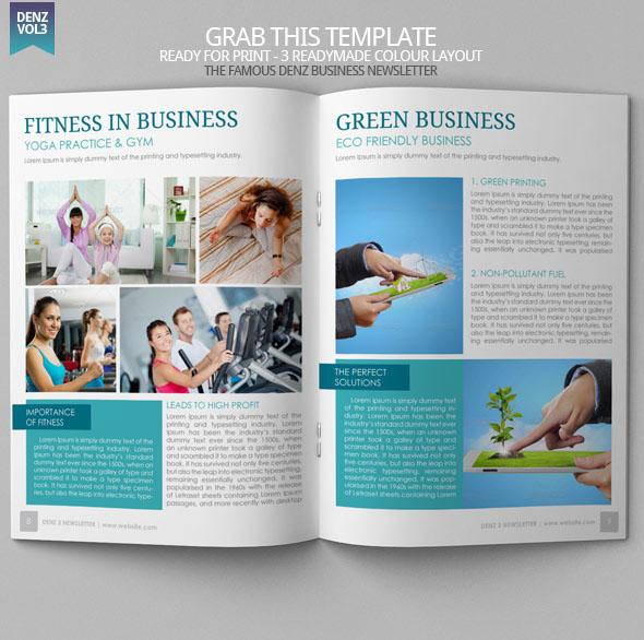 Denz 3 Business Newsletter Template Modern Design on Behance