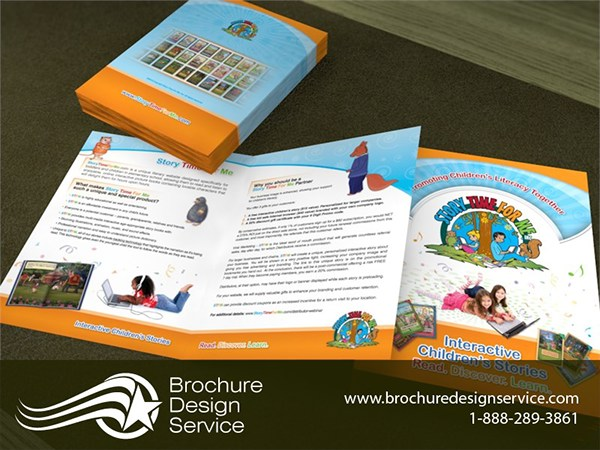 Bi Fold Brochure Samples - Education Sector on Pantone Canvas Gallery
