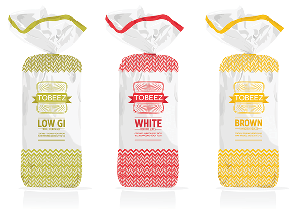 Bread Packaging Tobeez On Behance