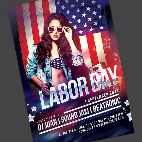 Labor Day Flyer On Behance30 labor day party flyer template - psd ...