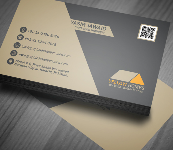 Real Estate Business Card PSD Template (Freebie) on Behance - Buisness Card Template