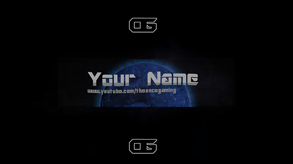 The Blue Moon Youtube banner template on Behance - yt banner template