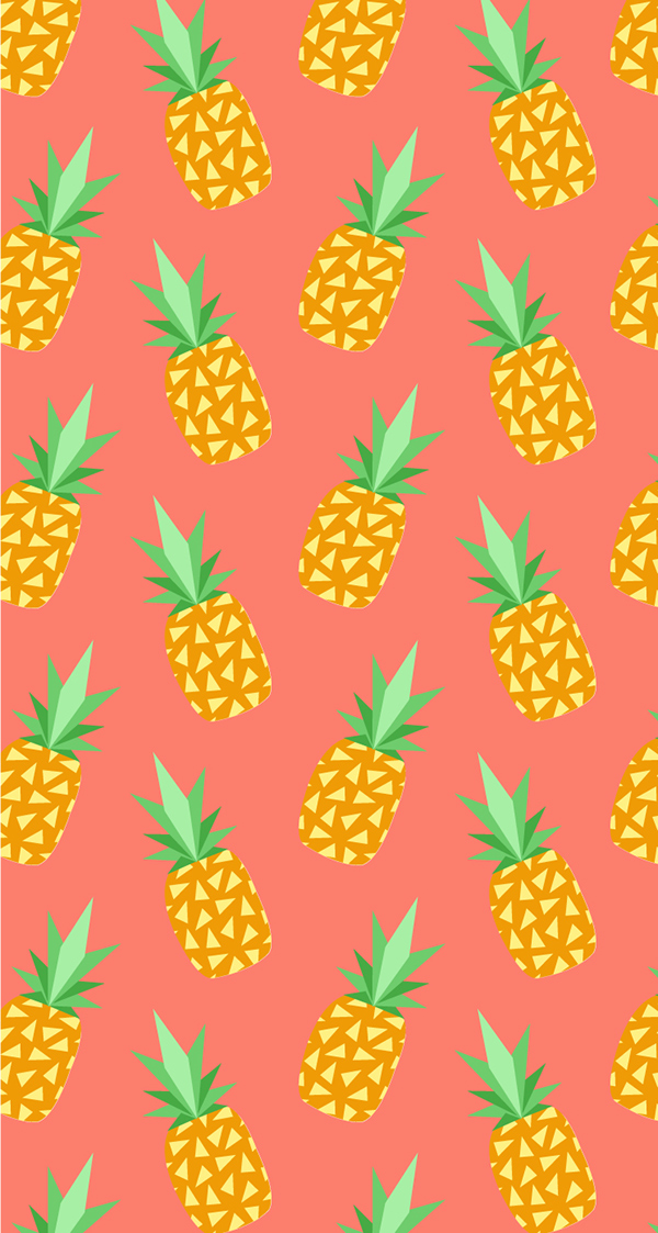 Cute Wallpapers Of Pineapples Pineapple Iphone Wallpaper On Behance