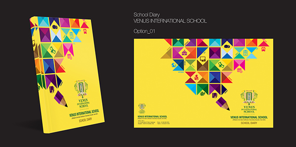 School Diary Cover Page Design on Behance - diary design