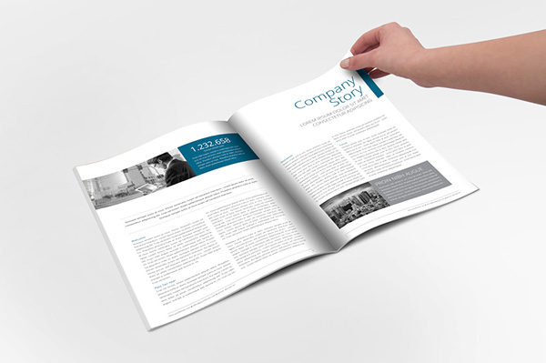 Annual Report InDesign Template on Behance