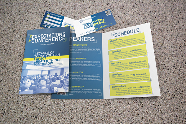 Expectations Bifold Brochure Template on Behance - conference brochure template