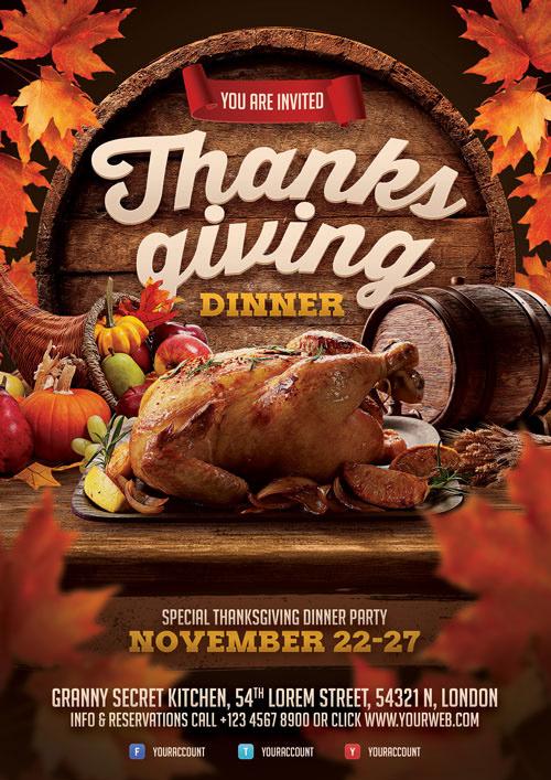 Thanksgiving Dinner Flyer on Student Show