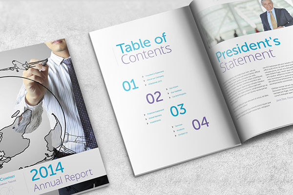 Annual Report Template - A4 Portrait on Behance - annual report template