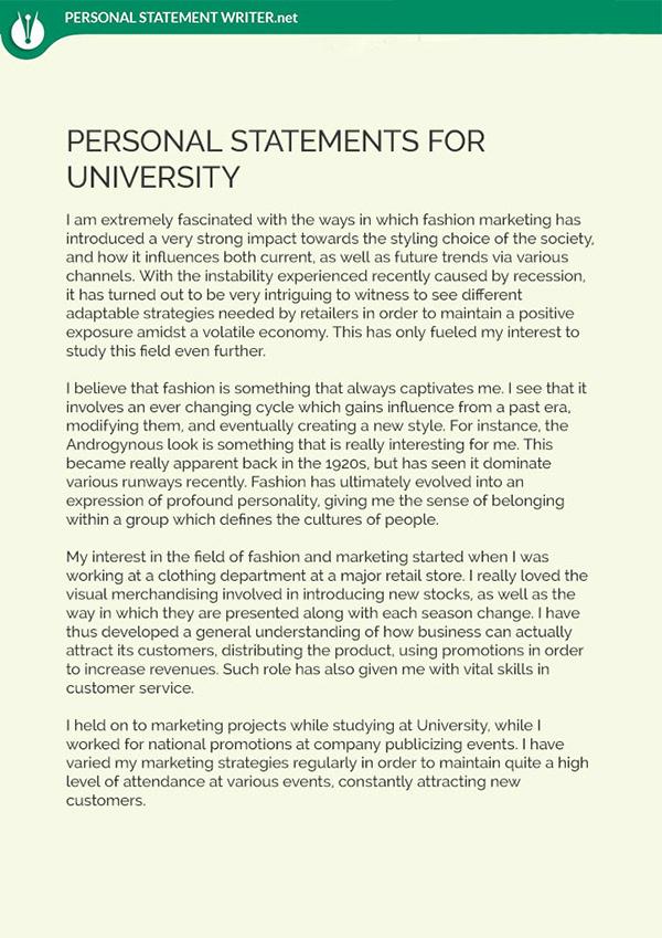 University Personal Statement Sample on Pantone Canvas Gallery