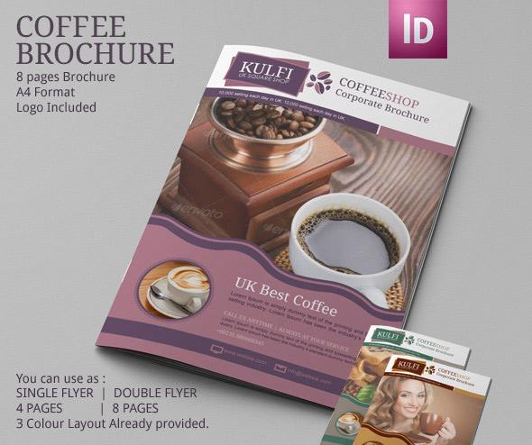 Coffee Shop Brochure Template Modern Design on Behance