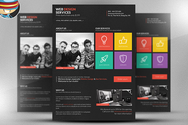 Metro Style Web Design Flyer Template on Behance - web flyer template