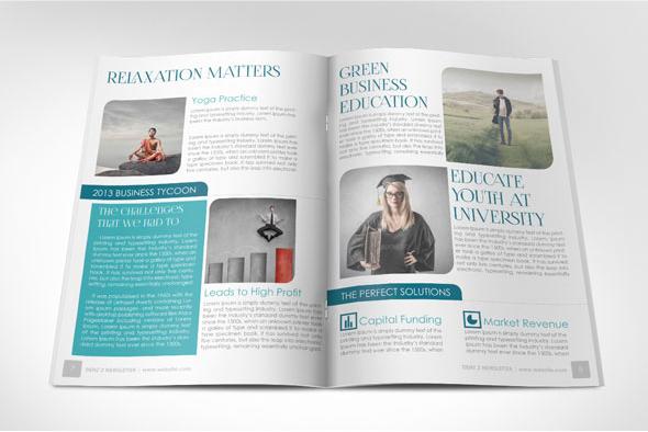 Business Newsletter Modern Template on Behance - business newsletter