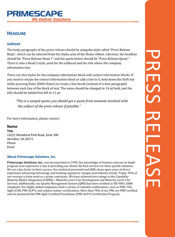 DTP \u2013 Press Release Template on Behance - press release template