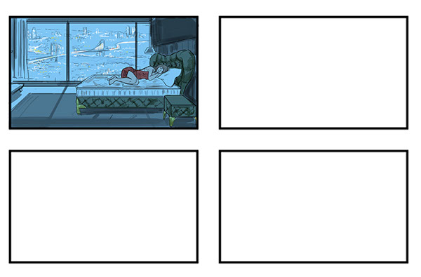 Commercial Storyboards 3 on Pantone Canvas Gallery - commercial storyboards
