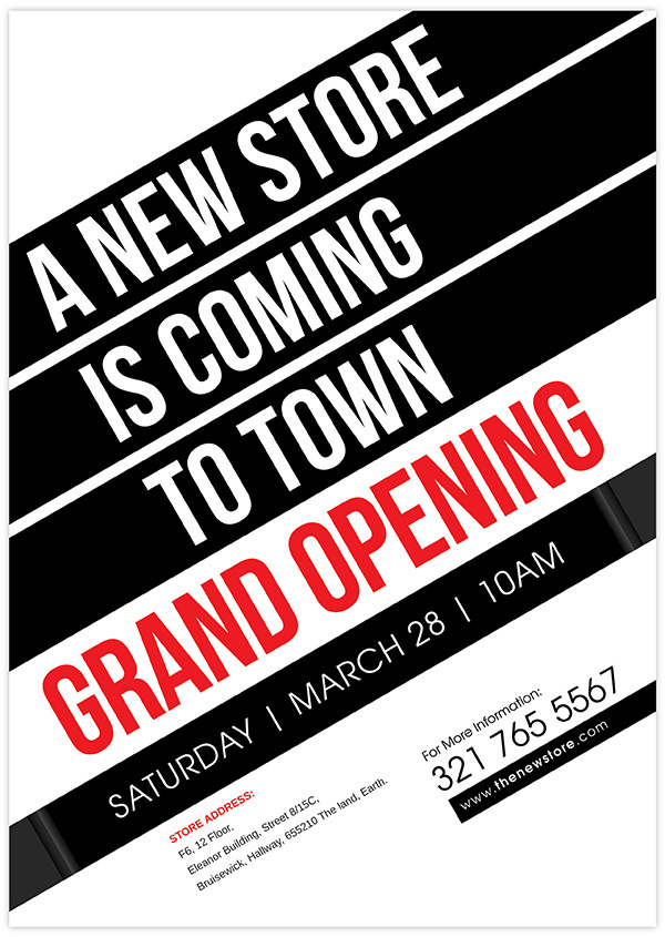 New Store Grand Opening Flyer on Behance - Grand Opening Flyer