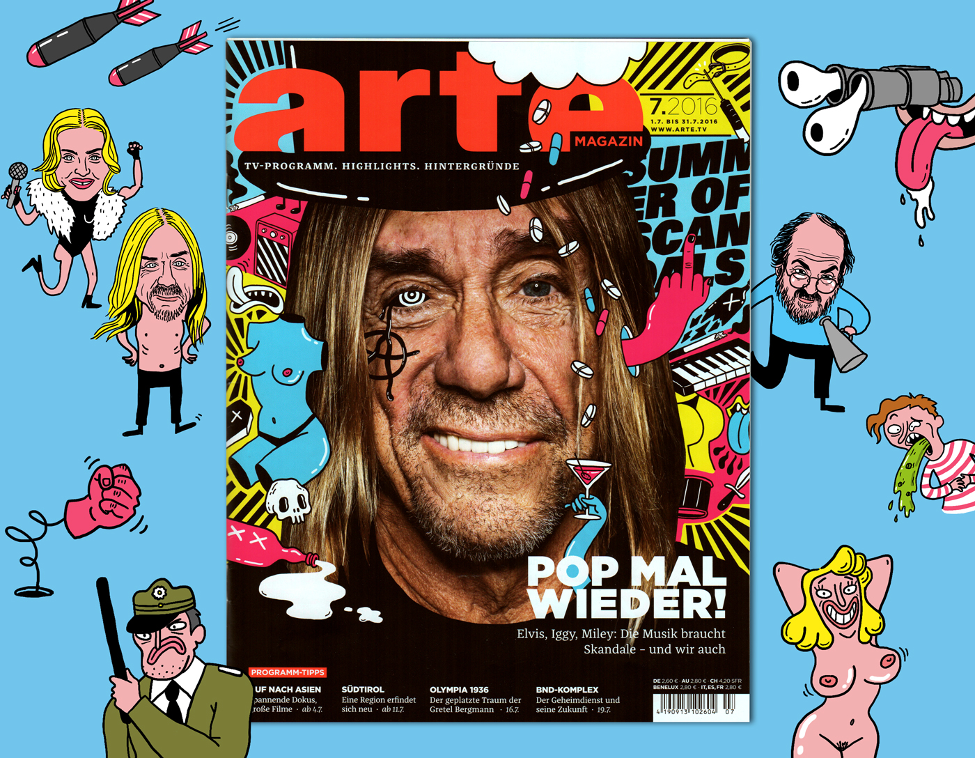Arte Tv 7 Summer Of Scandals Arte Magazin 07 16 On Behance
