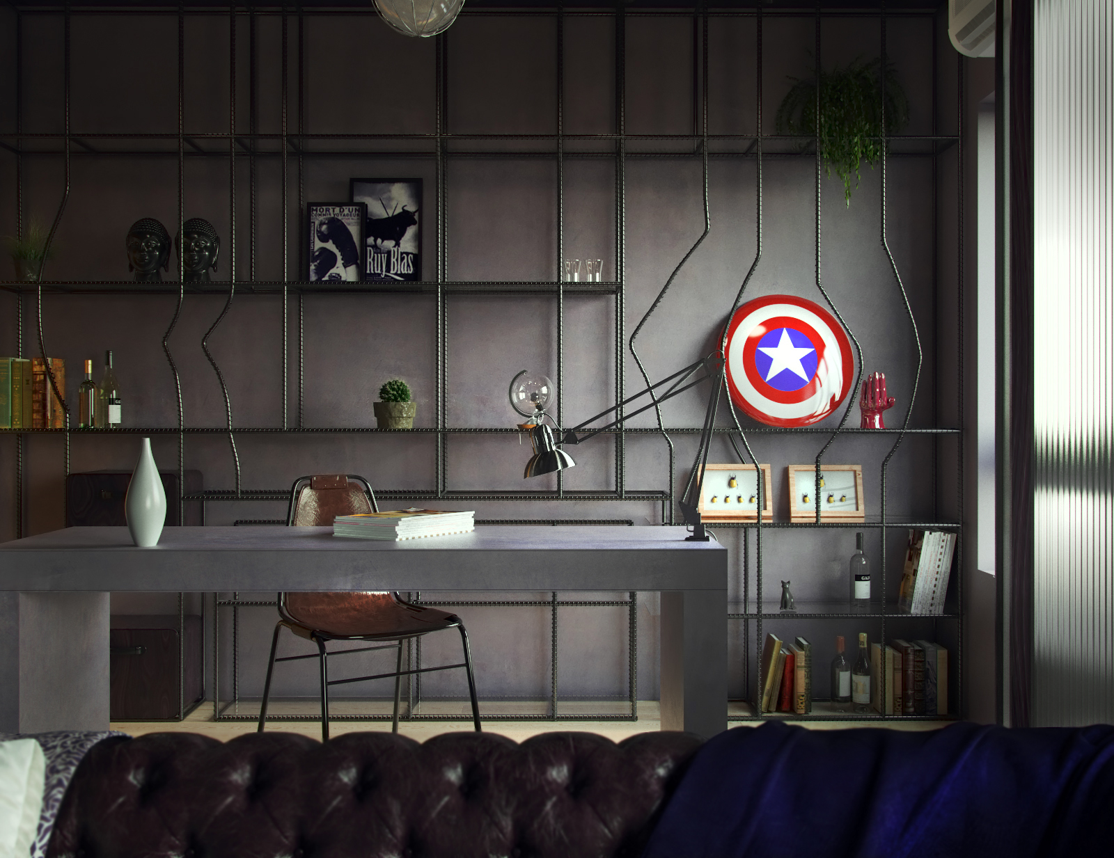 Cgi Interior Fabulous Marvel Heroes Themed House On Behance