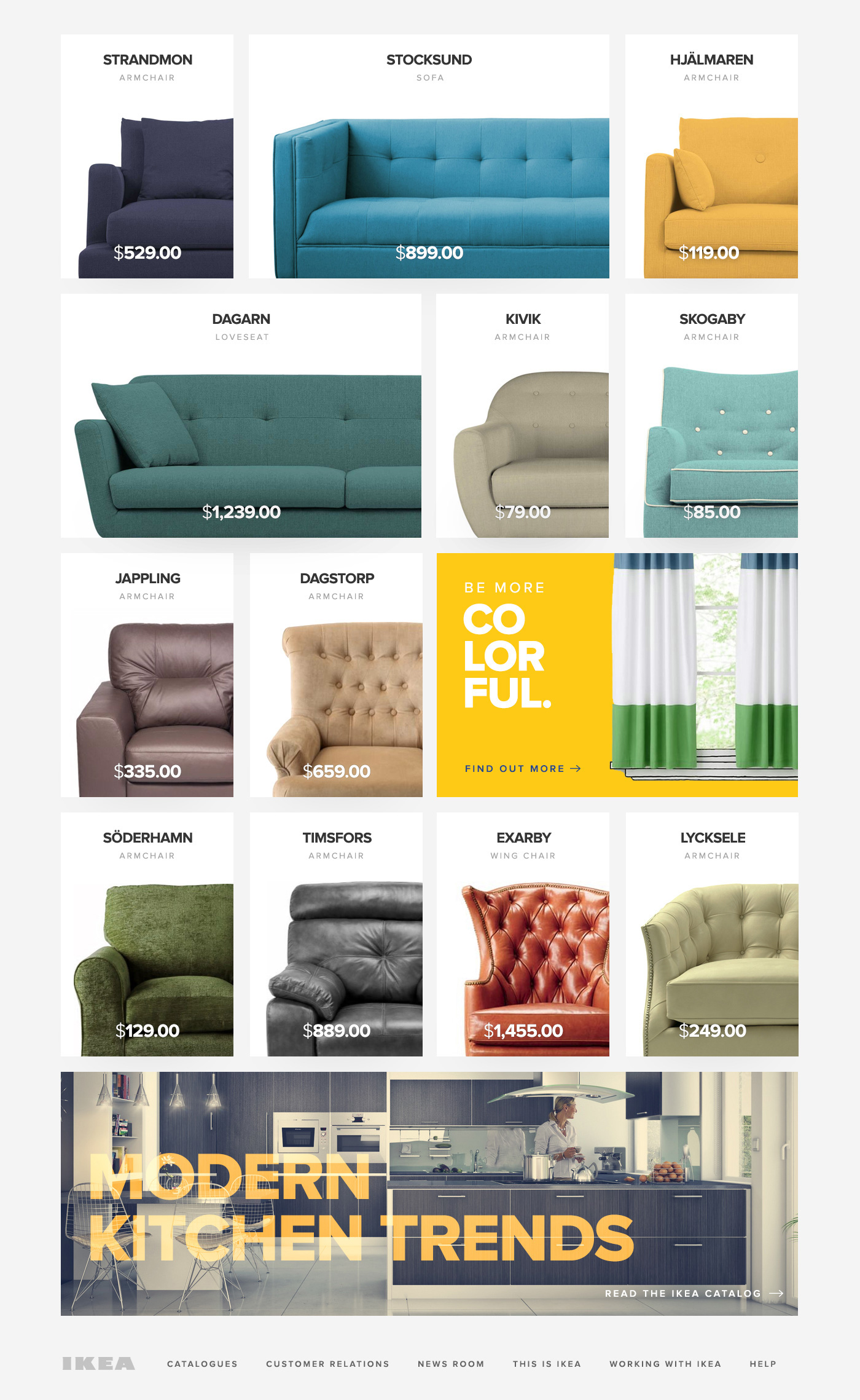Ikea Inline Redesigning The Website Of Ikea On Behance
