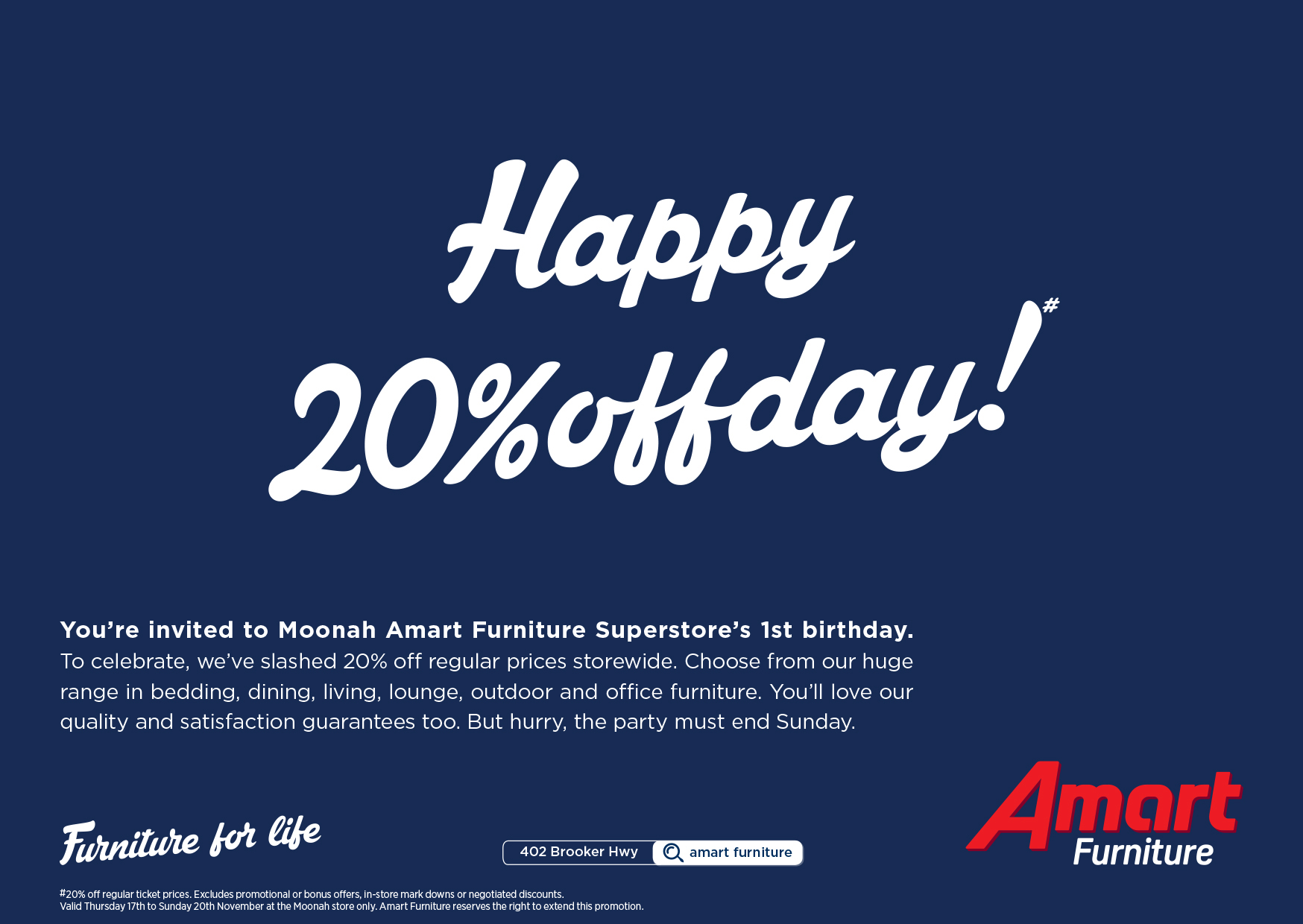 A Mart Furniture Store Amart Furniture Moonah 1st Birthday On Behance