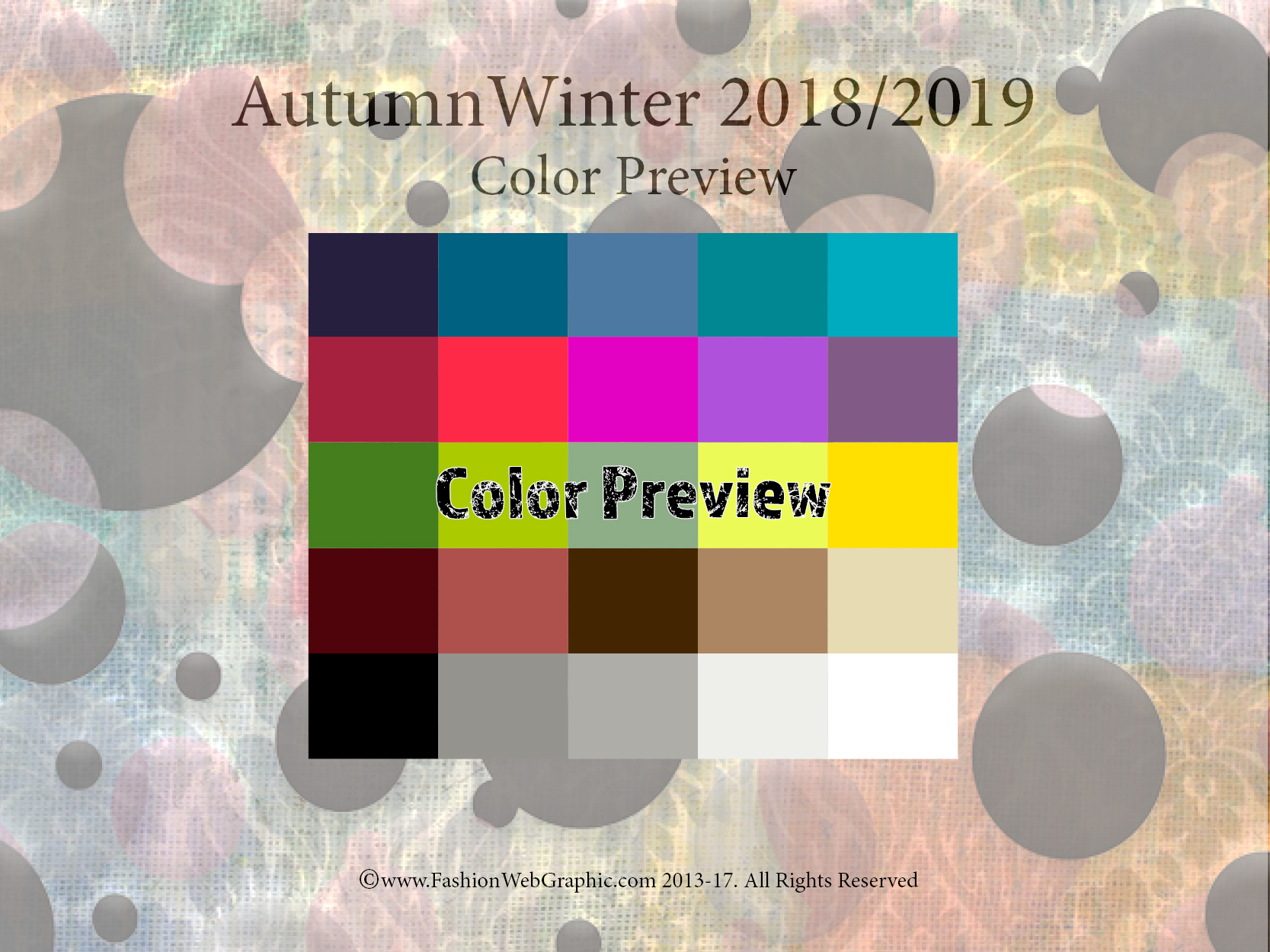 Color Trends Fall 2018 Aw2018 2019 Trend Forecasting On Behance