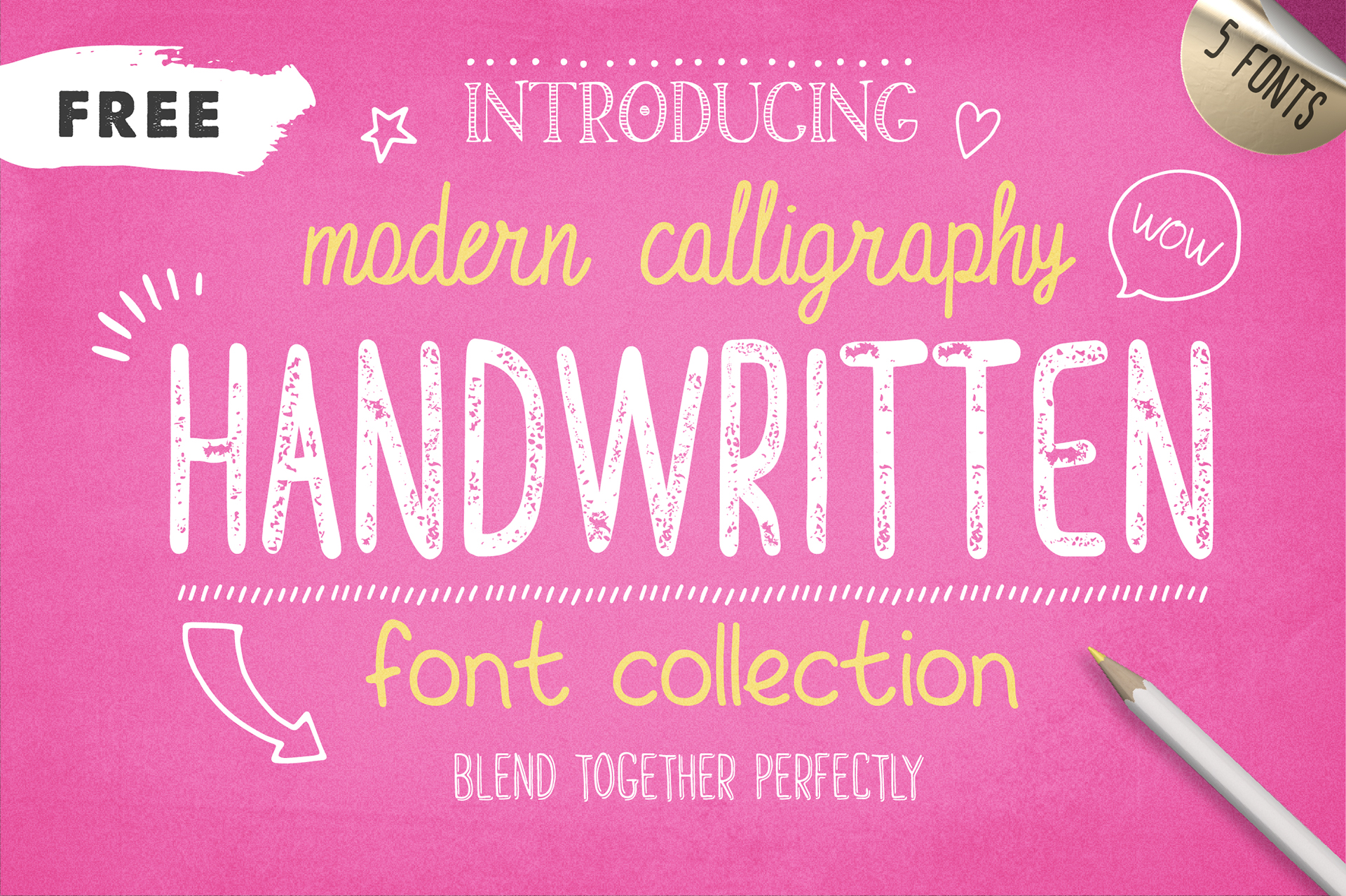 Free Fonts Handwritten Font Collection On Behance