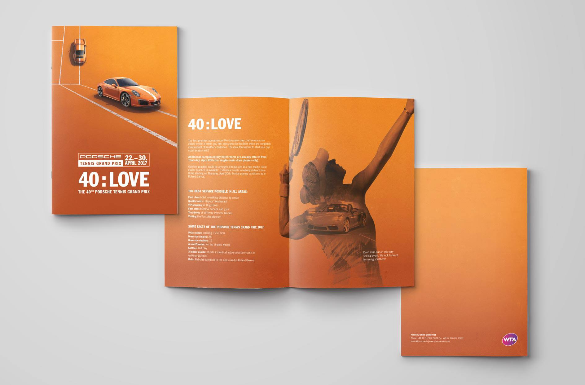 Prix Porsche Tennis Grand Prix Event Vermarktung On Behance