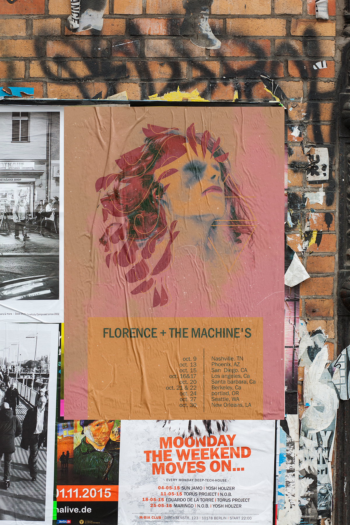 Poster Shop Berlin Poster Design For Florence The Machine On Behance