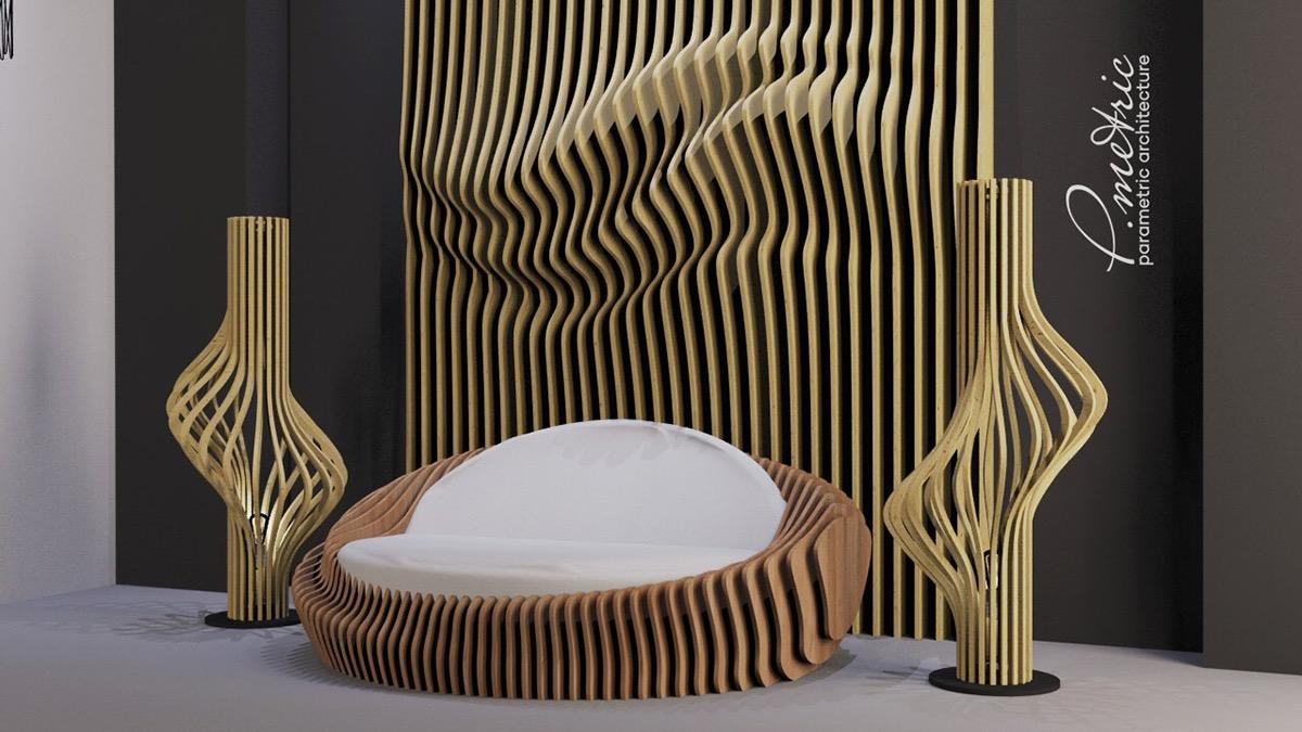 3d Wallpaper For Tv Unit Parametric Sofa On Behance