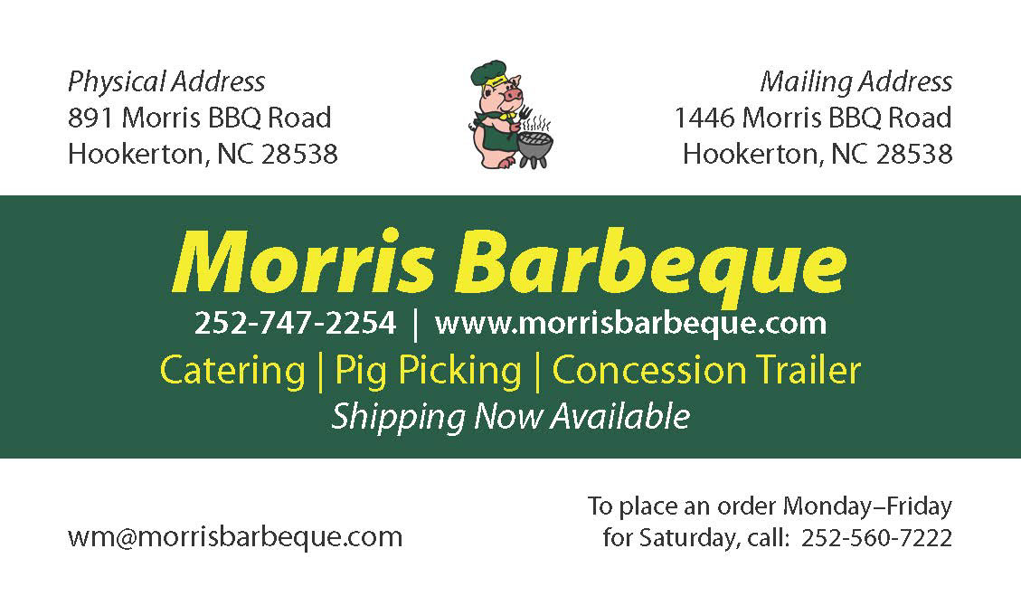 Morris Barbeque Business Card  Coupon Designs on Behance