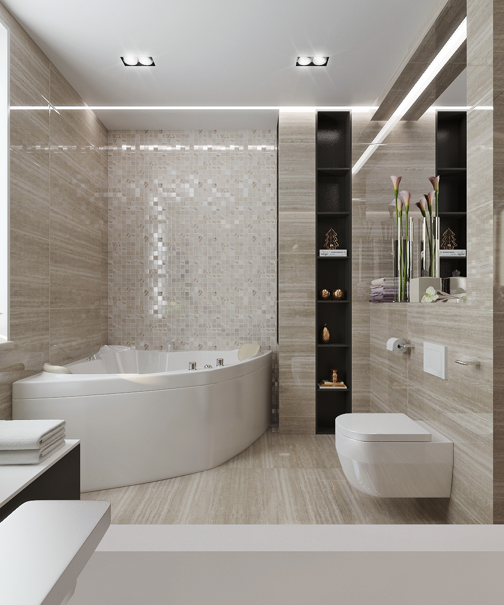 Beige Bathroom Design On Behance