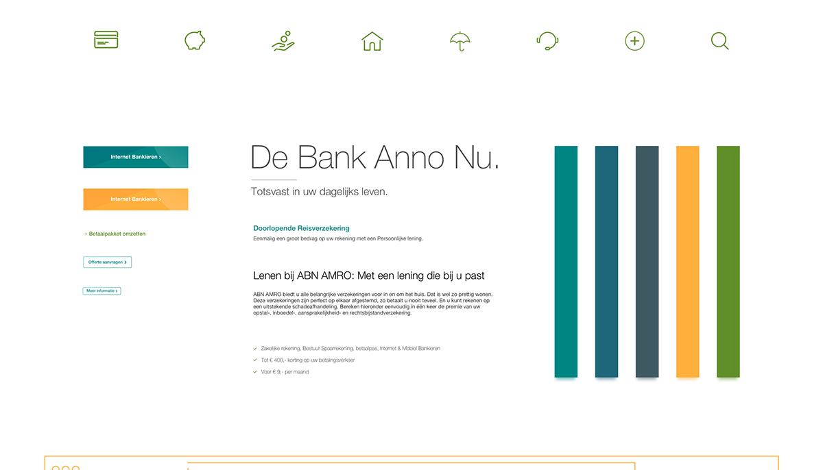 Zwembad Opstal Of Inboedel Abn Amro Website Redesign On Pantone Canvas Gallery