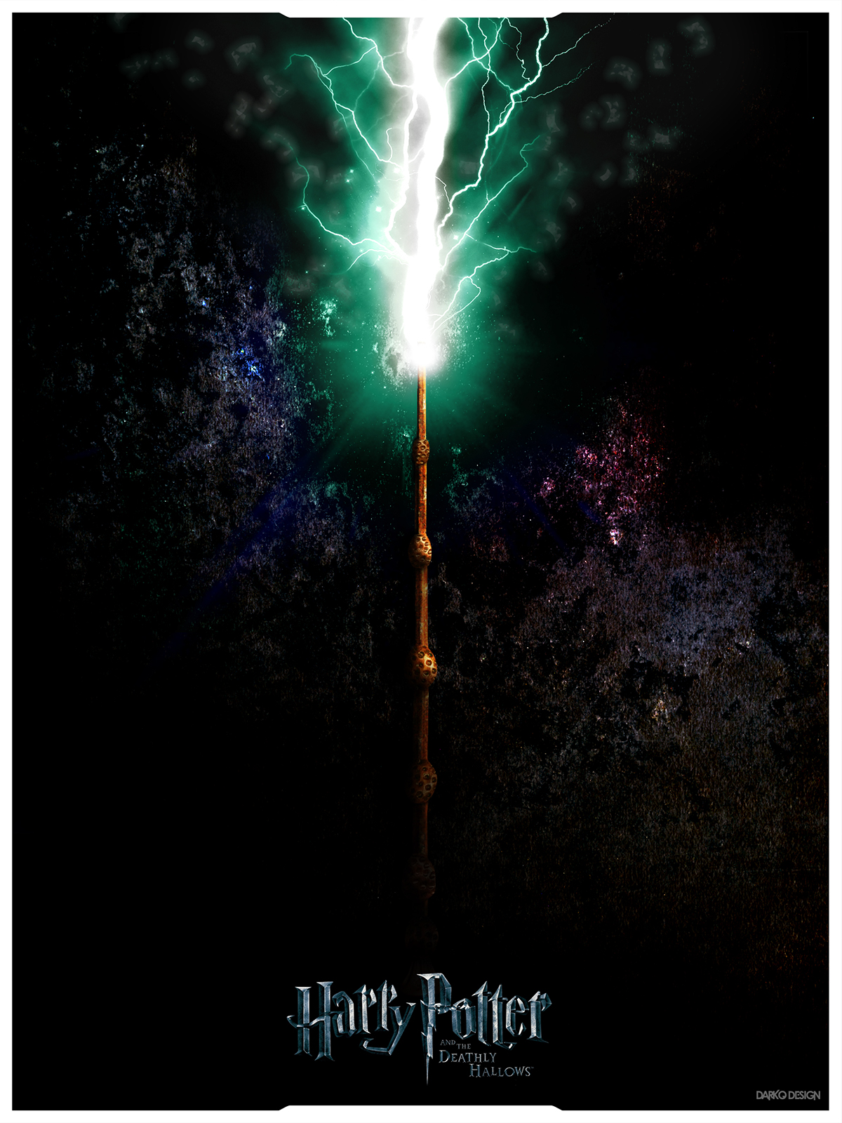 Wand Poster Harry Potter And The Deathly Hallows Trilogy Posters On