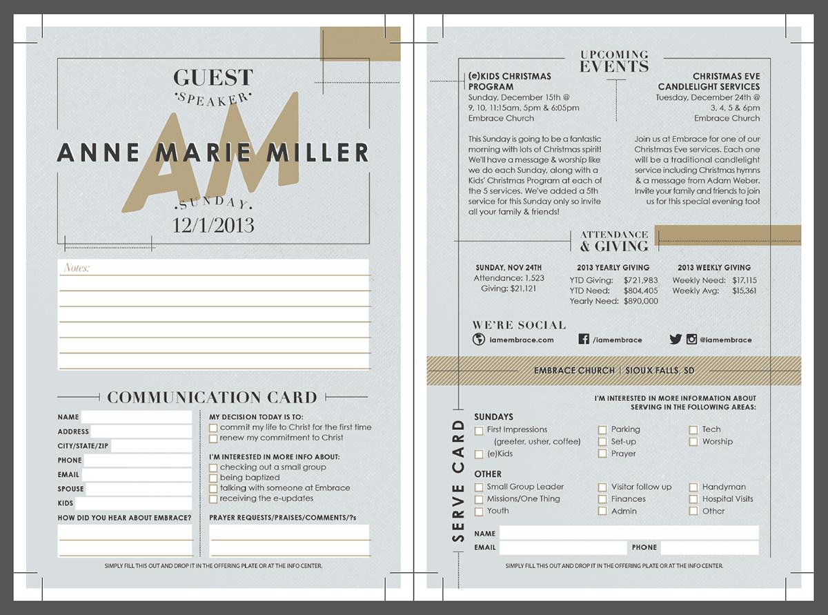 church bulletin layout