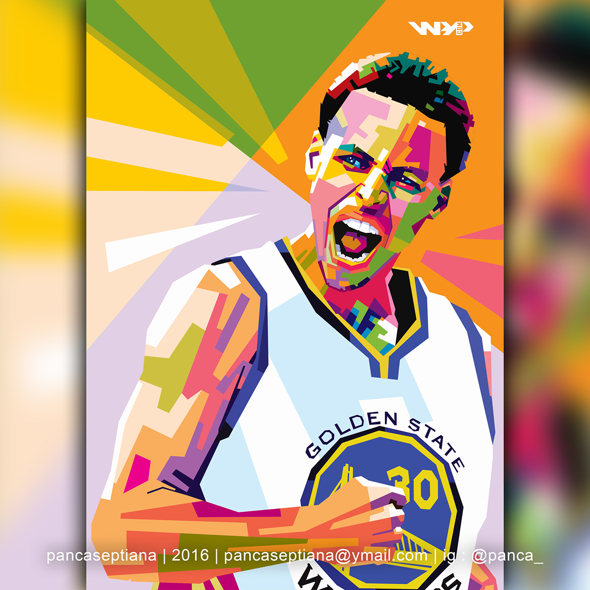 Lebron James Quotes Wallpaper Stephen Curry Wpap Pop Art Style By Panca On Behance