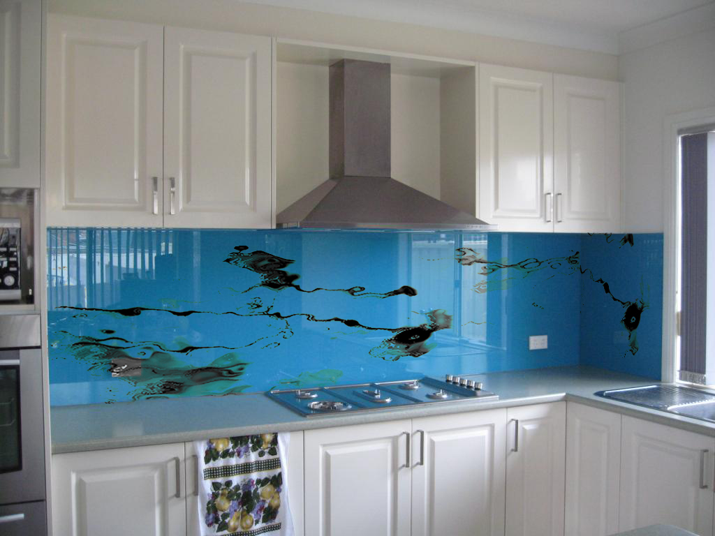 Diy Canvas Met Verlichting Kitchen Splash Backs Glass On Behance
