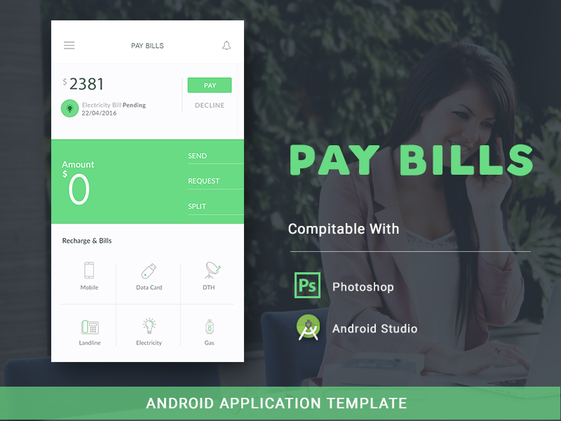 PAY BILLS Android Template on Behance