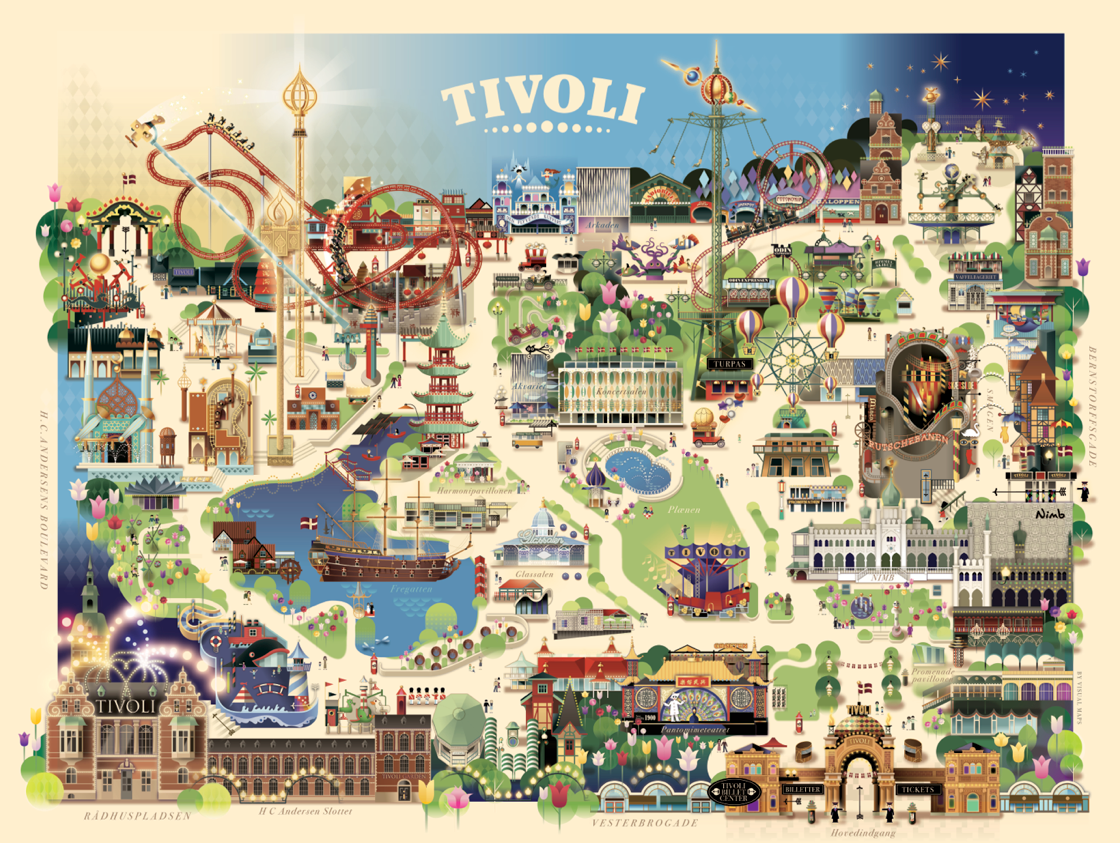 Tivoli Denmark English Tivoli Gardens Copenhagen Summer 2013 On Behance