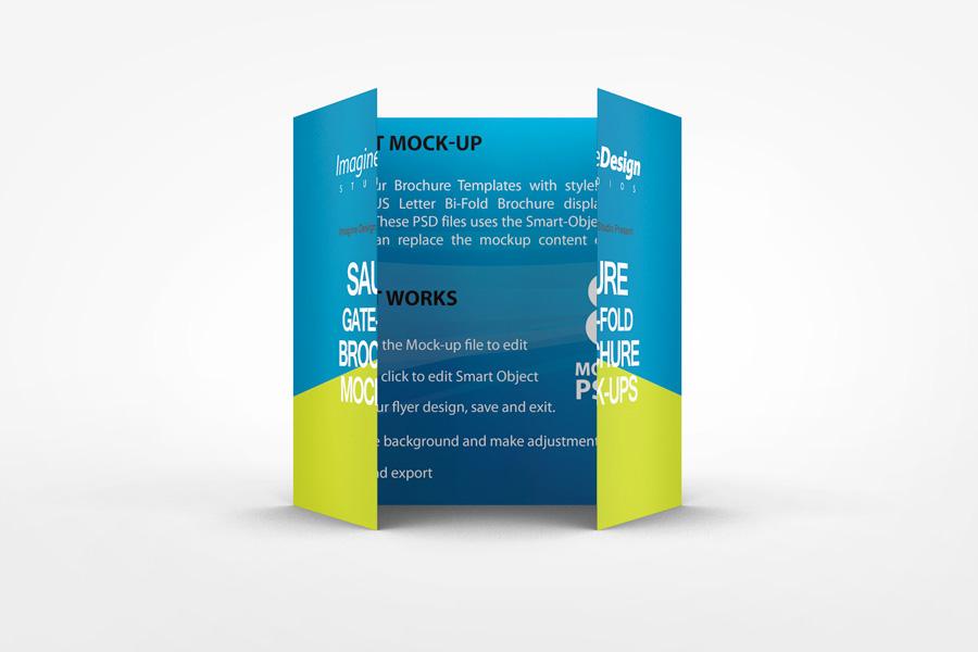 Square Gate Fold Brochure Mockup on Behance