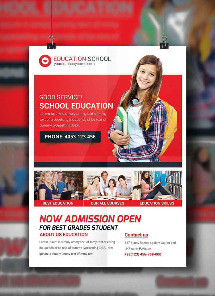 Junior School Education Flyer Template on Behance - advertising flyer template
