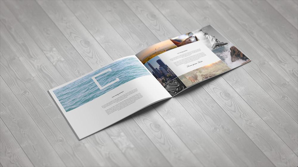 A4 Landscape Brochure Mock-Up on Behance