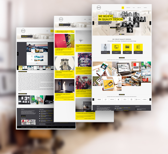 SKOKOV - Free Corporate Web Design Template PSD on Behance - free profile templates
